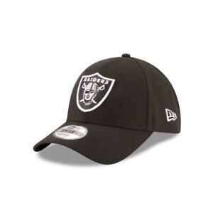 Las Vegas Raiders New Era 9FORTY NFL Adjustable Strapback Hat Cap Black 940