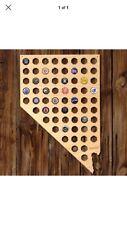 Home Wet Bar Nevada Beer Cap Map Wall =