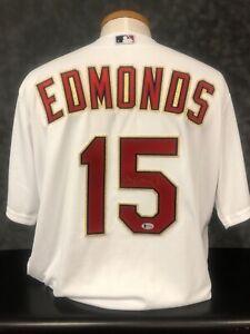 Jim Edmonds St. Louis Cardinals Signed 2006 Champions Jersey Beckett BAS COA