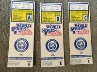 1984 WORLD SERIES TICKETS FOR GAMES A B C DETROIT TIGERS vs PADRES Lowest Price