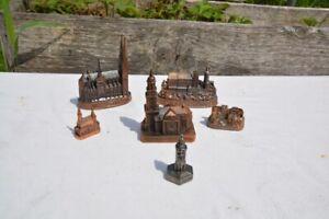 Konvolut Städtewahrzeichen Dom Kirche Burg Miniatur Kupfer? Messing?