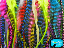 100 Pieces - Colorful Thick Long Rooster Hair Extension Feathers Wholesale