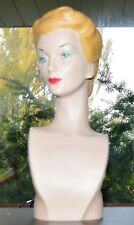Mannequin Bust Jewelry Display Fashion Head 1940's Vintage Style