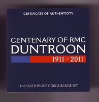 2011 $1 Centenary of RMC DUNTROON 1911-2011 Australia Silver Coin Badge Set