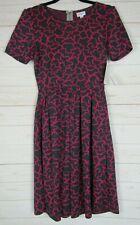 Lularoe Women's Amelia Dress Black & Pink Size Small NWT - A3262