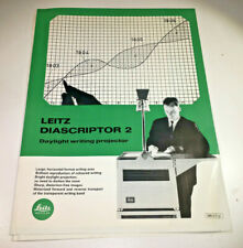 Product Detail Sheets for the Leitz / Leica Diascriptor 1 & 2 OHPs, 1965-66