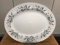 "Royal Albert BRIGADOON - Large 15"" Wide Oval Serving Platter - Excellent"