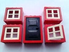 LEGO  DOOR AND 4 WINDOWS
