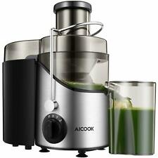Juicer Juice Extractor, Aicook 2020 Upgrade Centrifugal Juicer 3'' Wide Mouth, 3