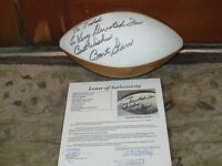 BART STARR Autographed Football JSA Certified Personalized