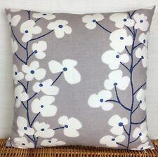 "John Lewis Wallflower Fabric Blue cushion cover 18""x18"" Retro Style Reversible"