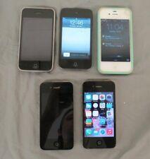 (5) Apple iPhones & iPod 2x A1332 A1349 A1241 & A1367 PARTS or REPAIR LOOK