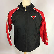 Vintage Chicago Bulls Starter 90s NBA Basketball Windbreaker Coat Jacket Medium