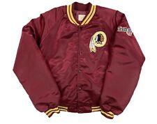 Vintage Washington Redskins Satin Jacket Men's Size Large Chalk Line Red 90s NFL