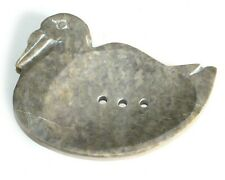 Stone Soap Dish Hand Carved Large Animal Pelican Bathroom