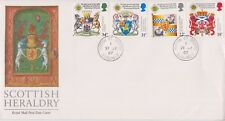 UNADDRESSED GB ROYAL MAIL FDC 1987 SCOTTISH HERALDRY STAMP SET HINTON PMK