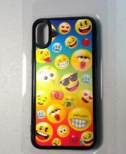 i phone X rubber case with 3D emojis and a Screen Guard COMBO