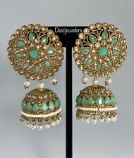 Indian Bollywood Fashion Designer Jhumka Jhumki Earrings Studs Wedding Jewelry
