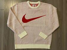 Supreme X Nike Swoosh Knit Sweater White sz XL