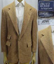Polo Ralph Lauren VTG Tweed Sport Coat Size 40S Brown