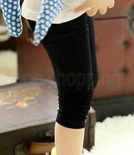 Kids Baby Girl Stretch Slim Skinny Pants Tight Leggings Trousers For Age 7-12