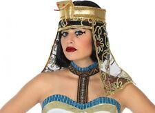 COIFFE Chapeau Reine CLEOPATRE Déguisement Femme Perruque Costume Egyptienne
