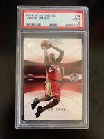 LeBron James 2004 SP Authentic #14 MINT PSA 9 Low Population | Cavaliers