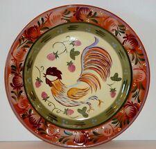 Zrike CHANTICLEER 9721010  Dinner Plate Danna Cullen Design Rooster