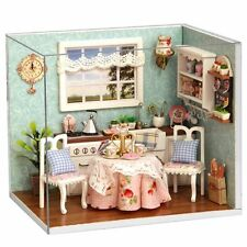 Flever Dollhouse Miniature DIY House Kit Creative Room With Furniture and #4S1