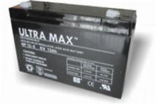 ULTRAMAX NP12-6, 6V 12AH (as 10Ah) EMERGENCY LIGHT LIGHTING BATTERY