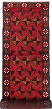 2004 # Handmade Baluchi Rug 406 x 84 cm Traditional Hallway Long Runner Carpet