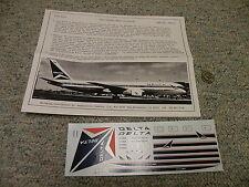Flight Path decals 1/144 FP44-02 Delta Airlines Boeing 767-200/300     Box 4