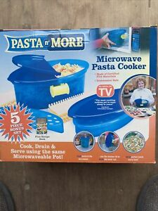 Pasta N' More As Seen On TV 5 Pcs Microwave Pasta Cooker Certified FDA Materials
