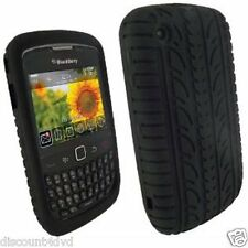 BLACKBERRY 8520 CURVE TYRE TREAD SILICON CASE/COVER/SKIN BLACK HOLDER NEXT DAY