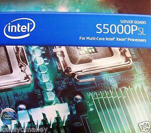 """Intel S5000PSLSASR DDR2 LGA771 SSI EEB (12"""" X 13"""") Server Board New Retail Box"""