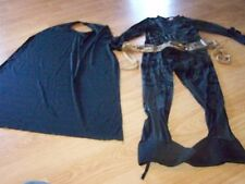 Size Small 4-6 Batman The Dark Knight Costume Jumpsuit w Belt GUC