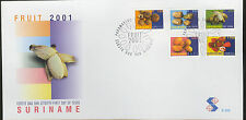 REP. SURINAME 2001  FDC E 252 FRUITS VRUCHTEN  BLANK
