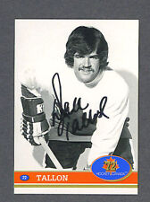 Dale Tallon signed 1972 Canada Cup hockey card