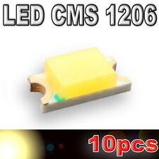 111/10# LED 1206 SMD warm white - 500mcd - 10pcs