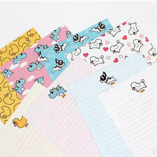 1x Pancoat Pattern Letter Set - 4sh Lined Writing Stationery Paper 2sh Envelope