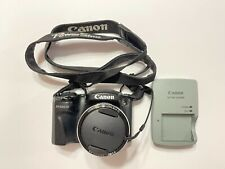 Canon PowerShot SX500 IS 16.0MP Compact Digital Camera Black Tested Working