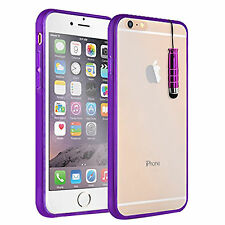 Front & Back Touchable Gel Case Grip Cover + StylusFor Apple Iphone 4 4S 5 5S 5C
