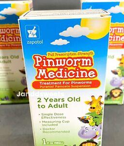 Pinworm Medicine 2yr To Adult Measuring Cup/ Medicina Para Lombeices 1 Oz, 30ml