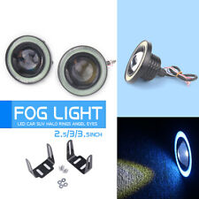 "2x 2.5"" COB LED Fog Light Projector Car Ice Blue Angel Eyes Halo Ring DRL Lamp"