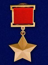 USSR AWARD ORDER MEDAL - GOLD STAR - HERO OF SOVIET UNION USSR - mockup