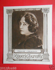 actresses figurines figurine card ringer's cigarettes cards 10 pauline frederick