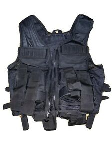 UTG Black Tactical Vest Used Only Two Times Many Extras Totally Adjustable