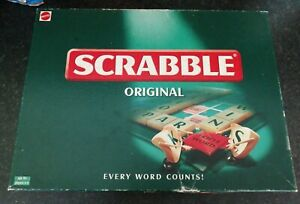 VINTAGE 2003 ORIGINAL SCRABBLE FROM MATTEL FULLY COMPLETE LOVELY CONDITION