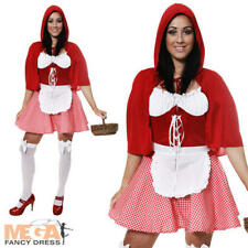 Little Miss Riding Hood Fancy Dress Sexy Fairytale Ladies Book Week Costume New