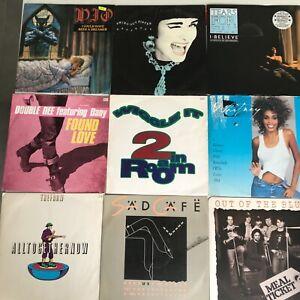 "Large Job lot of 54 x 1980's rock, pop and soul 12"" vinyl records."